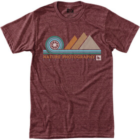 Hippy Tree Aperture Camiseta Hombre, heather rust